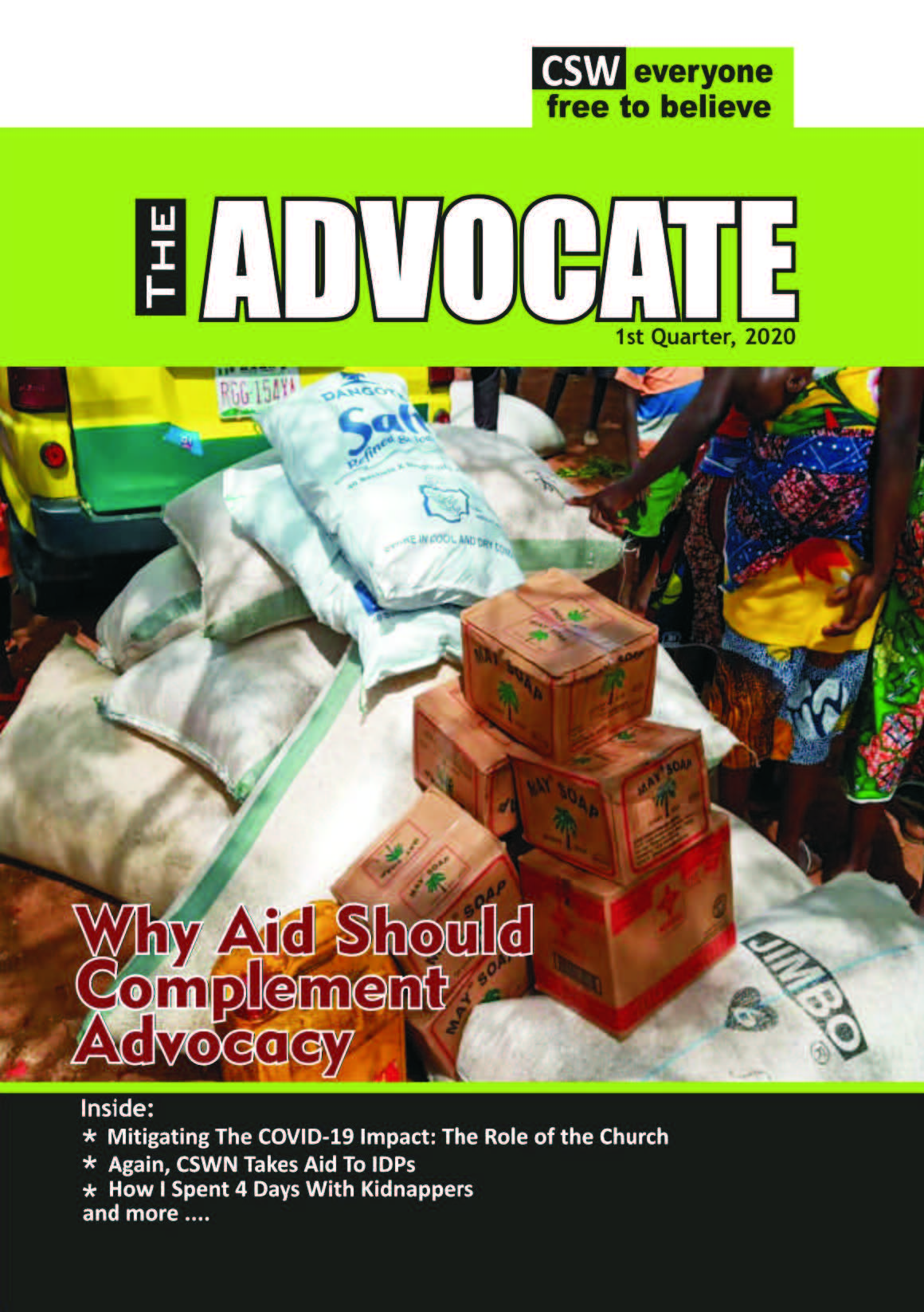 The Advocate (Q1-2020): Why Aid Should Complement Advocacy