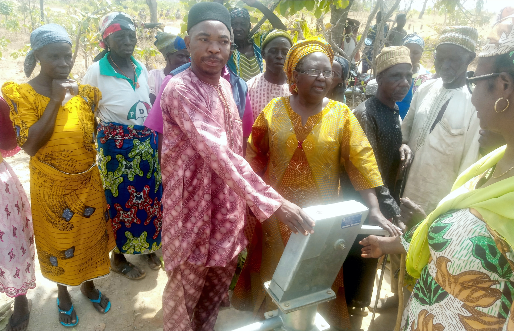 Commissioning of borehole at Iri Community